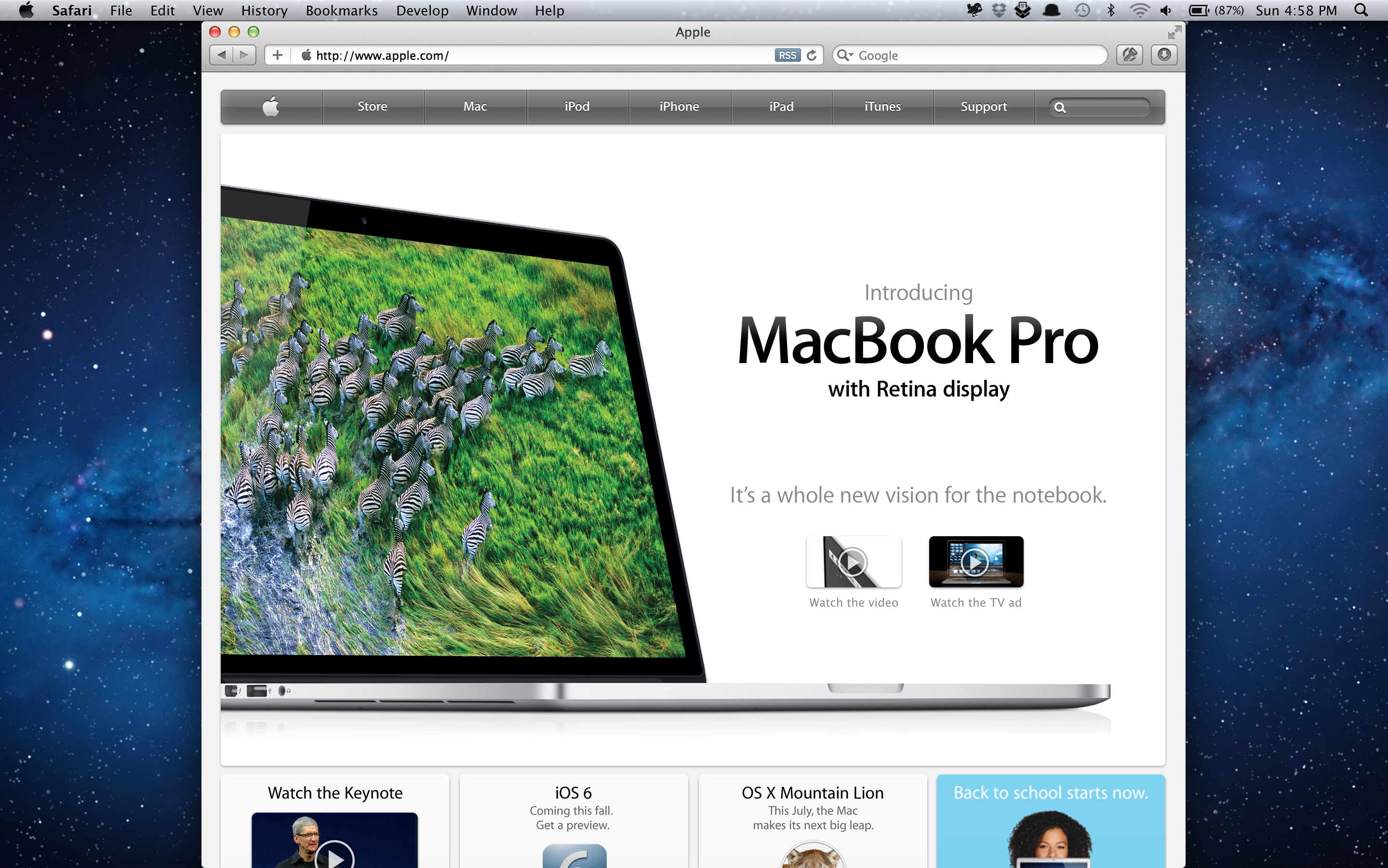 Stevestreza retina macbook pro review the age of the high but that process will probably take time right now safari is the only shipped browser which supports retina graphics though the google chrome canary ccuart Images